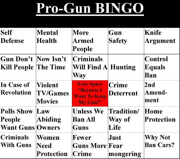 Pro-Gun BINGO