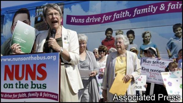 And these ladies? They're nuns.