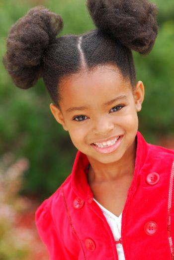 little girl afro puffs