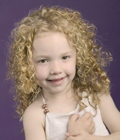 little girl white hair